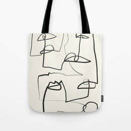 Abstract line art 12 Tote Bag