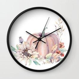 Autumn Pumpkin Wall Clock