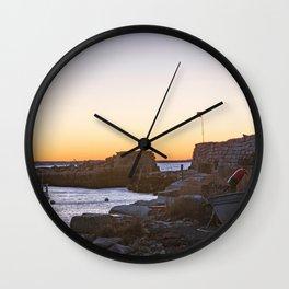 Winter sunset at Lanescove Wall Clock