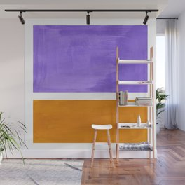 Minimalist Abstract Rothko Mid Century Modern Color Field Lavender Yellow Ochre Wall Mural