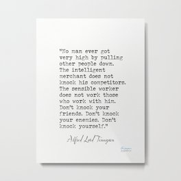Alfred Lord Tennyson quote 2 Metal Print