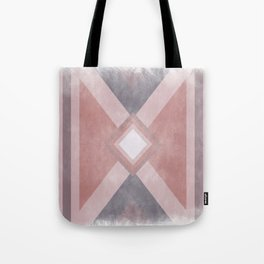 Red - Purple -  Pink Geometric shabby artwork Tote Bag