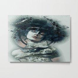 O lado belo e sombrio de uma mulher!! Metal Print
