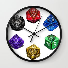 Dragon Dice poster T-Shirt Wall Clock