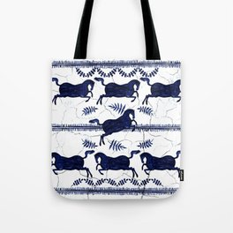 Ancient Greek Fresco - Navy Tote Bag