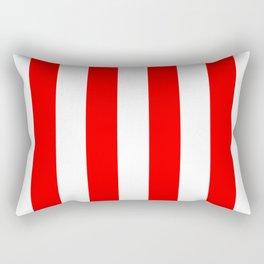 Australian Flag Red and White Wide Vertical Beach Stripe Rectangular Pillow