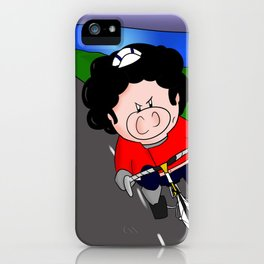 Cycling pig iPhone Case
