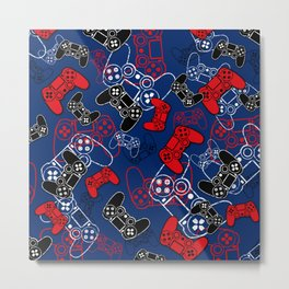 Video Games Red White & Blue Metal Print