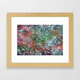 Green Frost Framed Art Print
