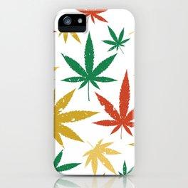 Marihuana Pattern iPhone Case
