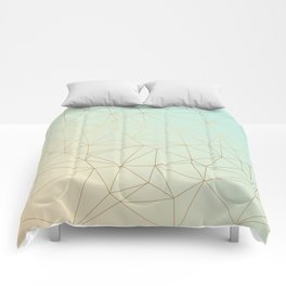 Pastel Geometric Minimalist Pattern Comforters