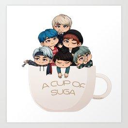 A Cup of Suga Art Print