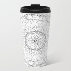the fountain - floral mandala Metal Travel Mug