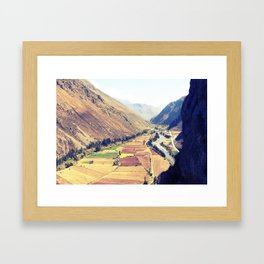 The Sacred Valley in Ollantaytambo, Peru Framed Art Print