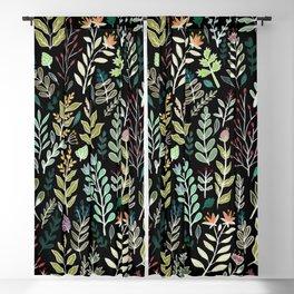 Dark Botanic Blackout Curtain