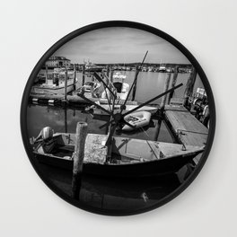 Boats of Menemsha Wall Clock