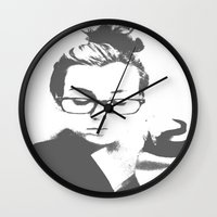 lorde Wall Clocks featuring White Teeth Teen by Paxton Keating