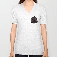 Oriental Smoke 3 3D Cube Unisex V-Neck