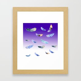 WILD FEATHERS Framed Art Print