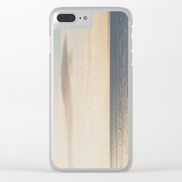 the world is too big to stay in one place ... Clear iPhone Case