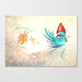 Merry Christmas Bird  Canvas Print