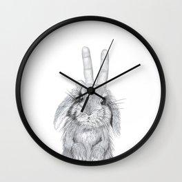 bunny ears! Wall Clock