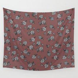 Secret Garden in Red Wall Tapestry