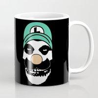 luigi Mugs featuring Misfit Luigi by cudatron