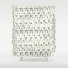 Classic Leaves navy and white Shower Curtain