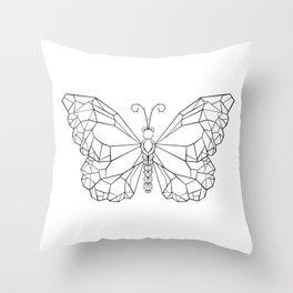 Polygonal Butterfly Monarch Throw Pillow