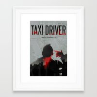taxi driver Framed Art Prints featuring Taxi Driver by FCRUZ