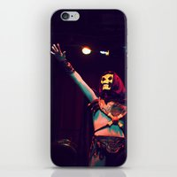 skeletor iPhone & iPod Skins featuring Skeletor Karaoke by Reagan Lam