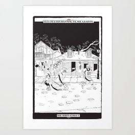 Bourbon Street Tarot Card Art Print