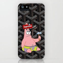 Patrick black iPhone Case