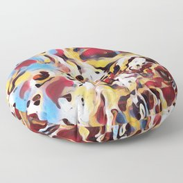 Abstract Background Floor Pillow