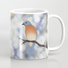 female eastern bluebird bokeh background Coffee Mug