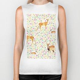 Deers #society6 #illustration #christmas Biker Tank