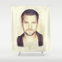 fringe Shower Curtains featuring FRINGE - PETER by theseed30