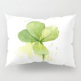 Four Leaf Clover Lucky Charm Pillow Sham