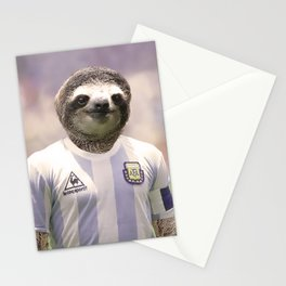 Football Sloth Stationery Cards