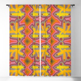 1508 Pattern by curious forms Blackout Curtain