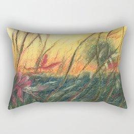 Wildflowers_Pastel Drawing Rectangular Pillow