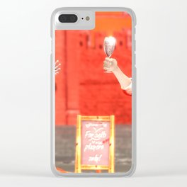 SquaRed: Champagne Clear iPhone Case