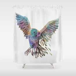 Geometric Owl Shower Curtain