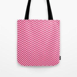 Pink Chevron Pattern Tote Bag