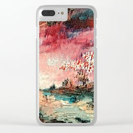 Spellbound sunset Clear iPhone Case