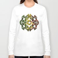maori Long Sleeve T-shirts featuring Rasta Colors on Maori Patterns by Lonica Photography & Poly Designs