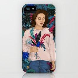 Lana in the jungle iPhone Case