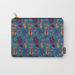 Cool Cat Pattern by Holly Shropshire Carry-All Pouch