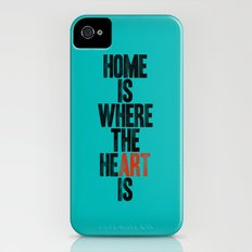 HOME IS WHERE THE HE(ART) IS Slim Case iPhone (4, 4s)